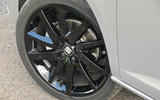 Seat Ibiza black alloy wheels