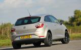 Seat Ibiza rear cornering
