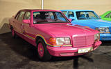 The rainbow Mercedes-Benz 500 SELs