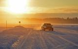 Drive (and drift) on a frozen lake