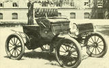 MASS-PRODUCED CAR, SPEEDOMETER: Curved Dash Oldsmobile (1901)