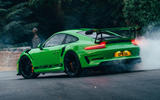 Porsche 911 GT3 RS burnout