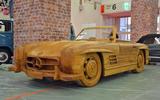 Wooden Mercedes-Benz 300SL roadster