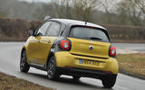 Smart Forfour rear cornering