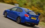 Subaru WRX STI rear cornering
