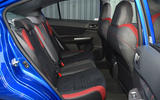 Subaru WRX STI rear seats