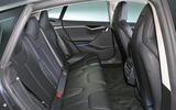 Tesla Model S 95D rear seats
