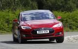 Tesla Model S cornering