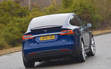 Tesla Model X rear cornering
