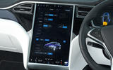 Tesla Model X vehicle adjustment screen