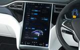 Tesla Model X vehicle adjustment screen