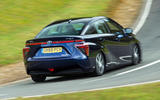 Toyota Mirai rear cornering
