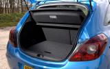 Vauxhall Corsa VXR boot space