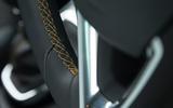 Vauxhall Crossland X leather stitching