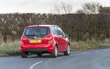 Vauxhall Meriva rear cornering