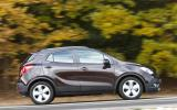 The Vauxhall Mokka is not that refined with the engine sounding strained at higher revs