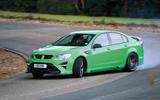 Vauxhall VXR8 GTS-R drifting