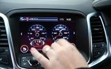 Vauxhall VXR8 GTS-R using the infotainment system
