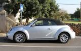 VW Beetle Cabriolet scooped
