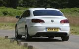 Volkswagen CC rear cornering