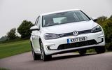 Volkswagen e-Golf cornering