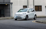 Volkswagen e-Up cornering
