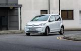 Volkswagen e-Up cornering