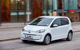 Volkswagen e-Up front quarter