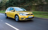 Volkswagen Golf on the road