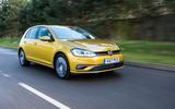 Volkswagen Golf on the road