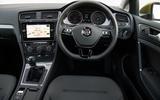 Volkswagen Golf driver's seat view