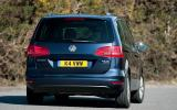 Volkswagen Sharan rear cornering