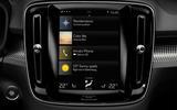 Volvo XC40 infotainment system