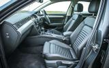The front seats of the high-spec Volkswagen Passat