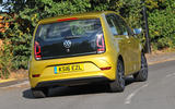 Volkswagen Up rear hard cornering