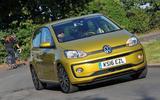 Volkswagen Up hard cornering
