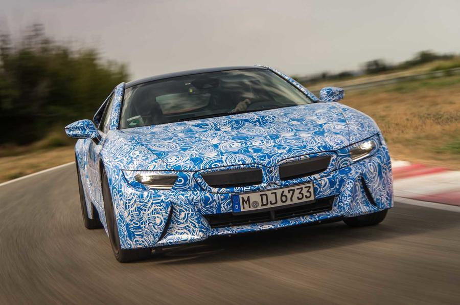 BMW i8 prototype hard cornering