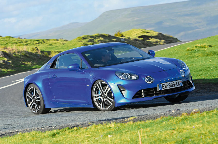 Alpine A110 2018 road test review cornering front