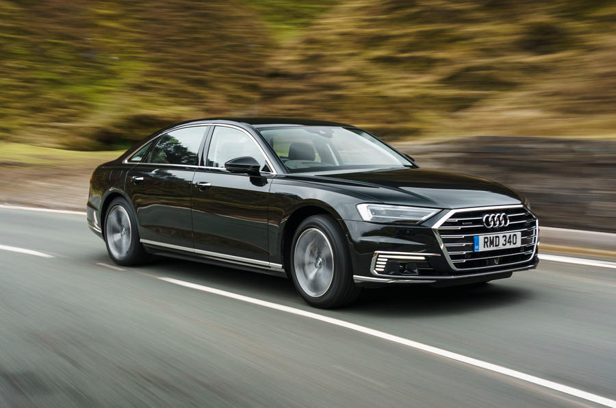Audi A8 60 TFSIe 2020 road test review - hero front