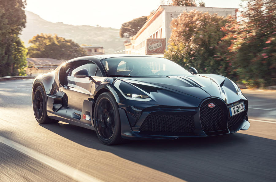 Bugatti Divo 2020 road test review - hero front