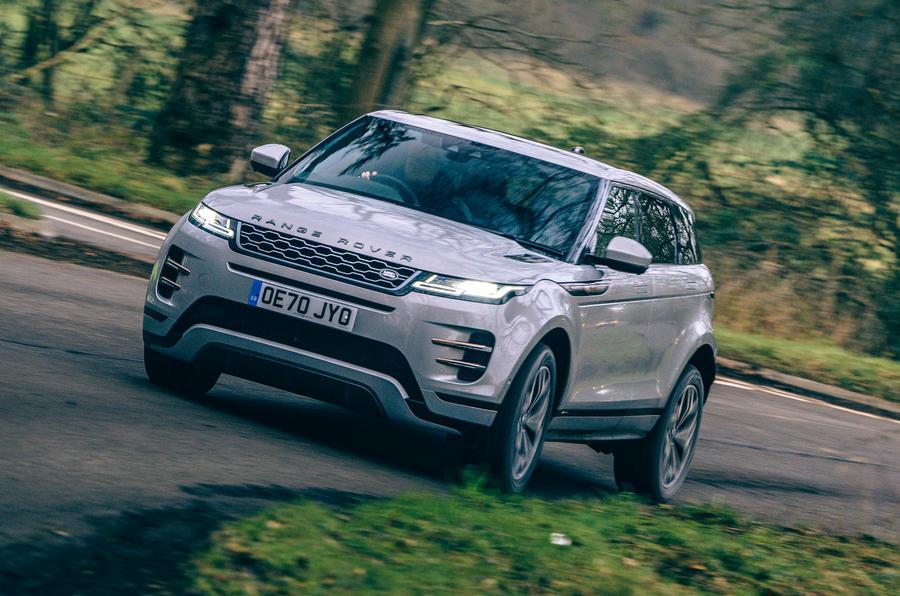 1 Land Rover Range Rover Evoque 2021 revue de l'essai routier héros avant