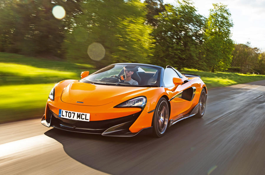 McLaren 600LT Spider 2019 road test review - hero front
