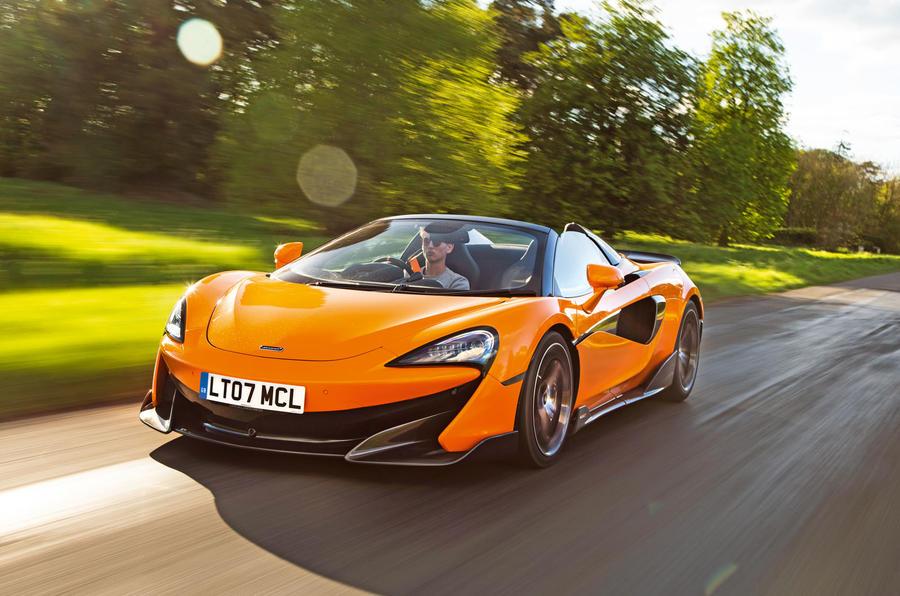 McLaren 600LT Spider 2019 road test review - hero front