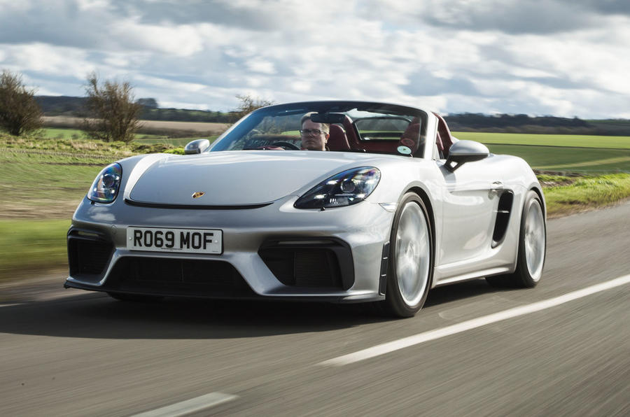 Porsche 718 Spyder 2020 road test review - hero front