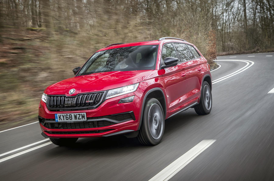 Skoda Kodiaq vRS 2019 road test review - hero front