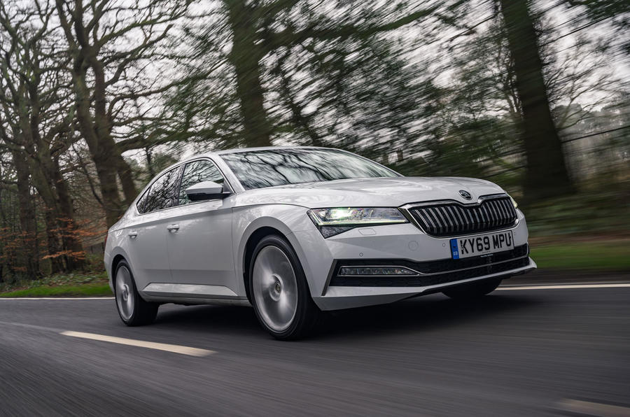 Skoda Superb iV 2020 road test review - hero front