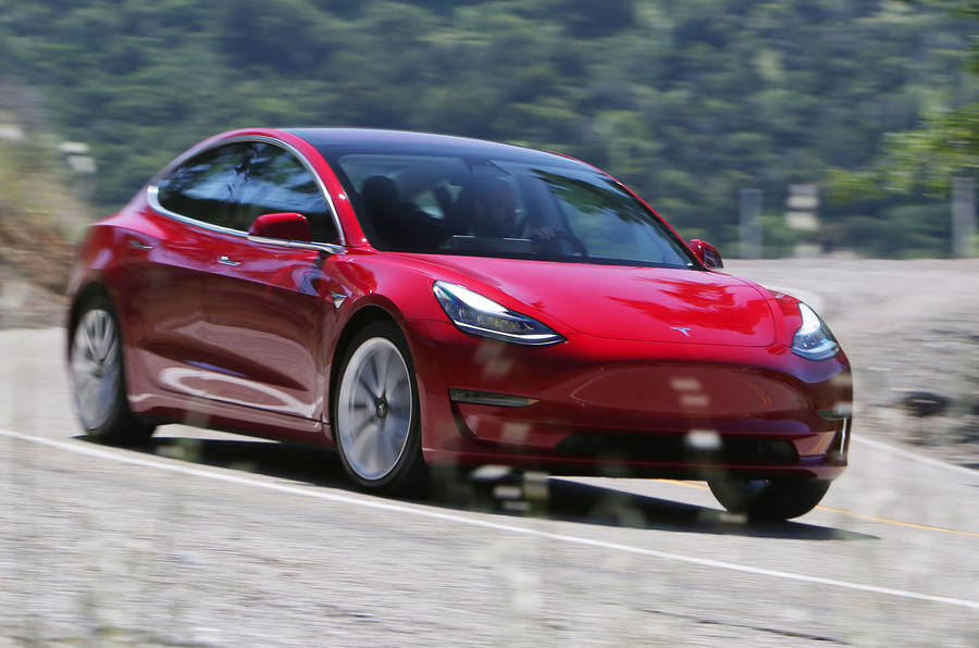 Tesla Model 3 2018 road test review hero front