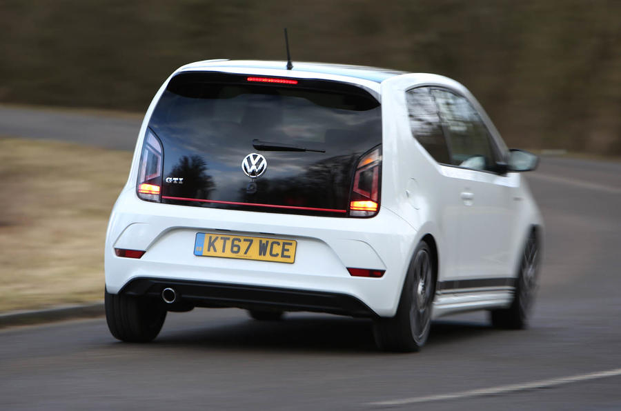 Volkswagen Up GTI 2018 review on the road rear