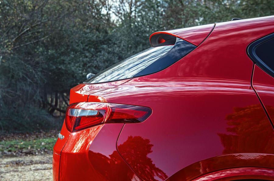 Alfa Romeo Stelvio Quadrifoglio 2019 road test review - rear end