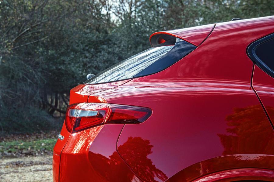 Alfa Romeo Stelvio Quadrifoglio 2019 road test review - rear end